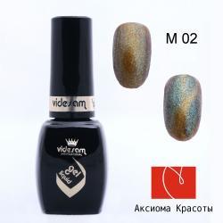 """Гель-лак """"Кошачий глаз"""" №М02, Videsam, 8 мл"""