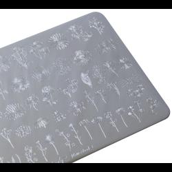 "Пластина для стемпинга "" Flowerbed 3"", 9,5х14,5 см, Lesly"