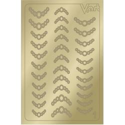 Металлизированные наклейки №1, золото