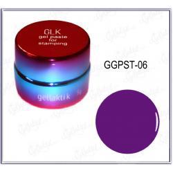 Гель-паста для стемпинга GELLAKTIK №06 Фиолетовая (GGPST-06)