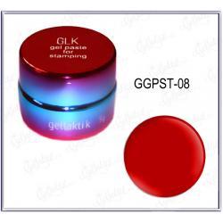 Гель-паста для стемпинга GELLAKTIK №08 Красная (GGPST-08)
